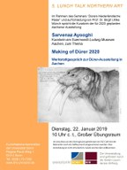 "5. Lunch Talk Northern Art mit Sarvenaz Ayooghi: ""Making of Dürer 2020"""